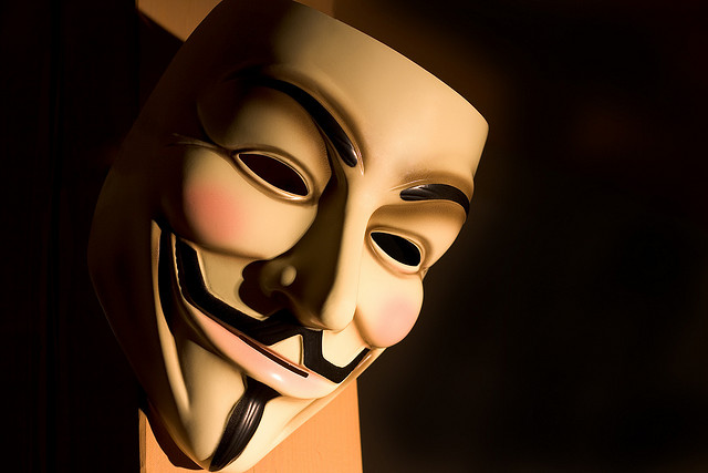 Guy Fawkes Mask. Photo: gato-gato-gato some rights reserved