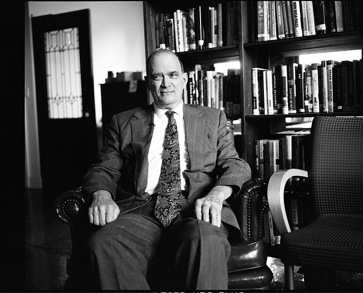 William Binney sitting in the offices of Democracy Now! in New York City. Photo Jacob Appelbaum, Creative Commons