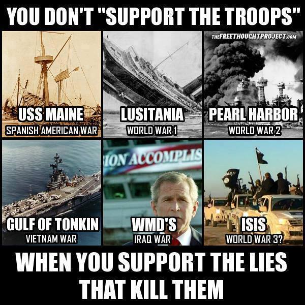 You don't support the troops